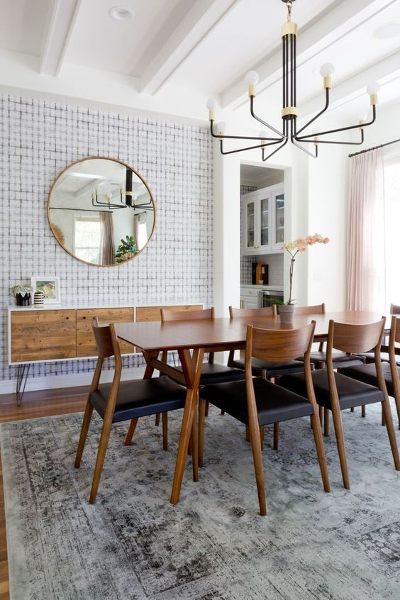 Mid-Century Dining Room Ideas: Eye-Catching Wall Details