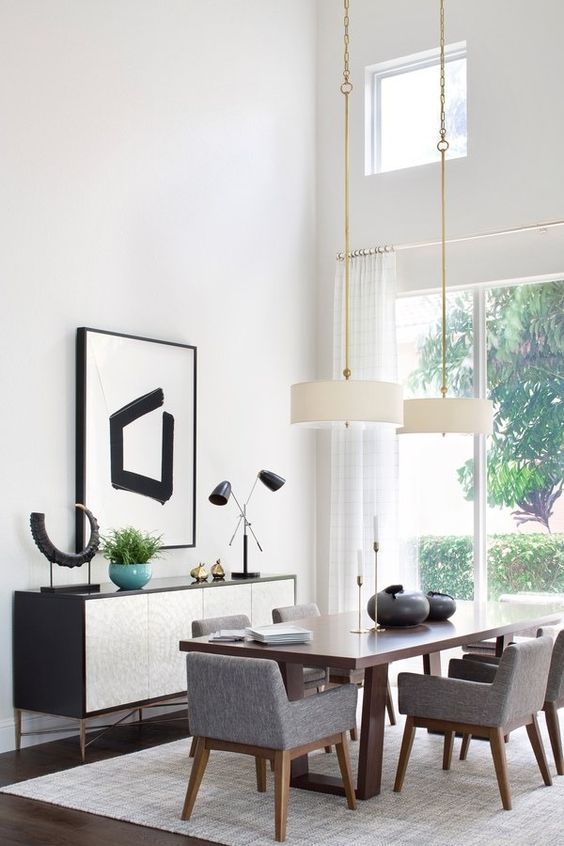 Mid-Century Dining Room Ideas: Elegant White Nuance