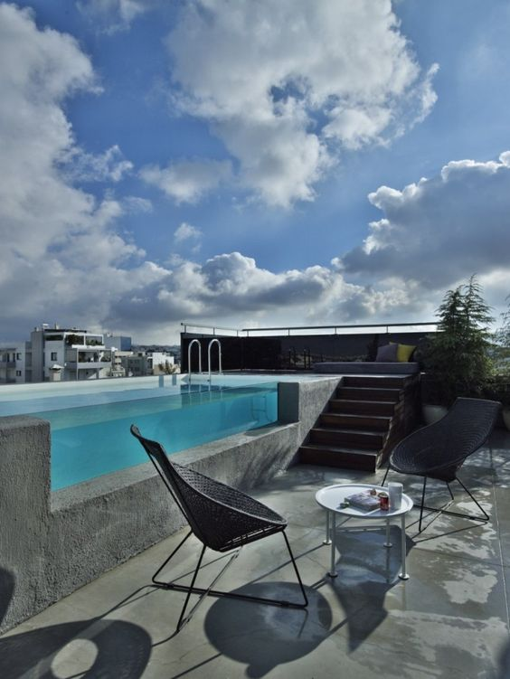 Rooftop Swimming Pool Ideas: Modern Above Ground