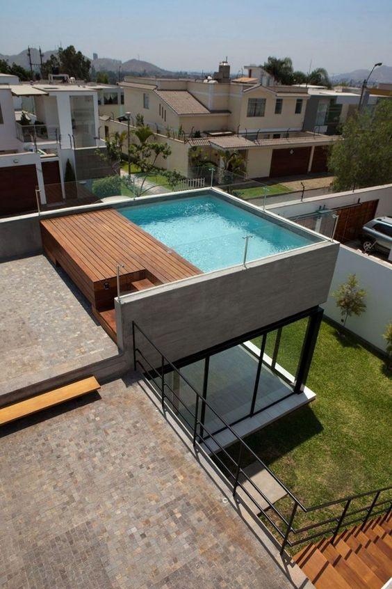 Rooftop Swimming Pool Ideas: Minimalist Plunge Pool