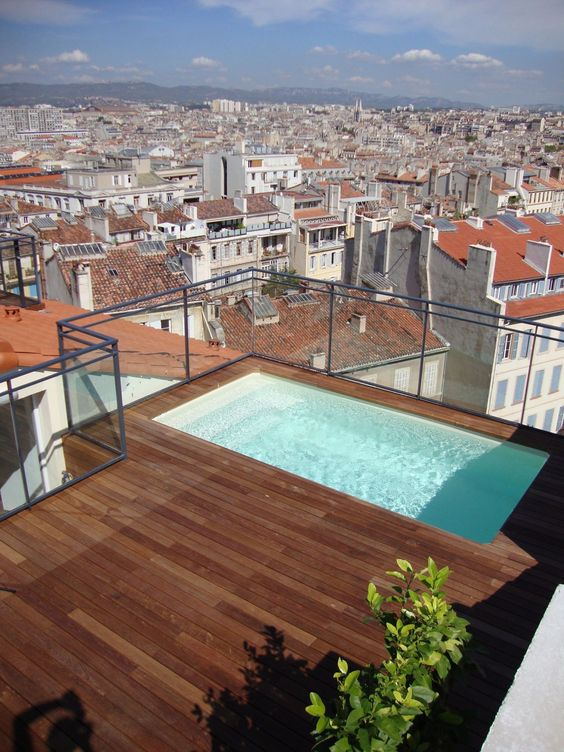 Rooftop Swimming Pool Ideas: Chic Swimming Pool