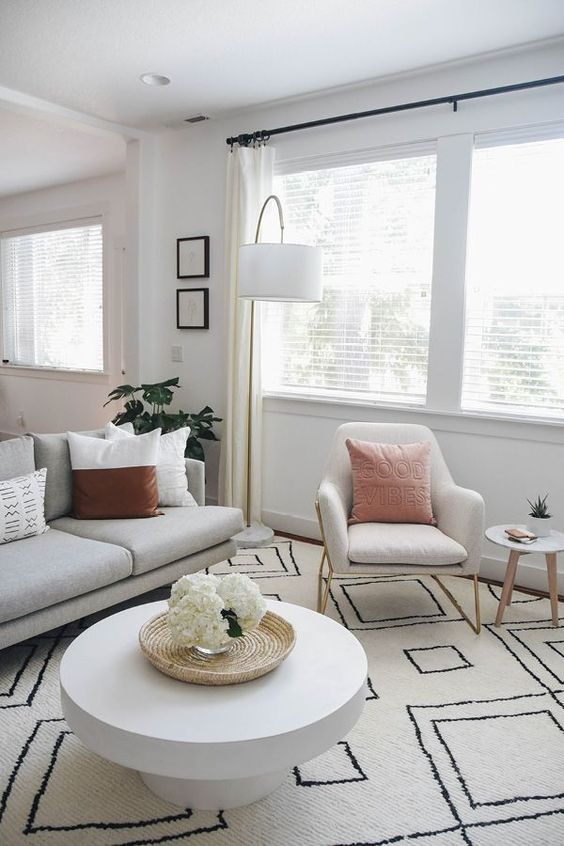Scandinavian Living Room Ideas: Cozy White Look