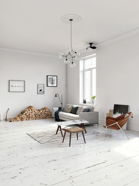 Scandinavian Living Room Ideas: Airy Spacious Area
