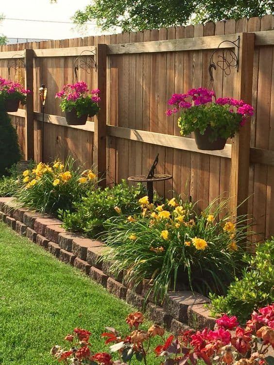 Wooden Fence Ideas: Rustic Backyard Fence