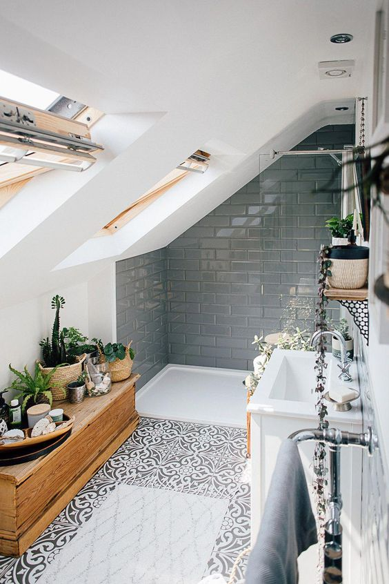 Boho Bathroom Ideas: Creative Attic Bathroom