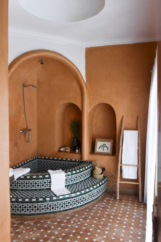 Boho Bathroom Ideas: Warm Earthy Decor