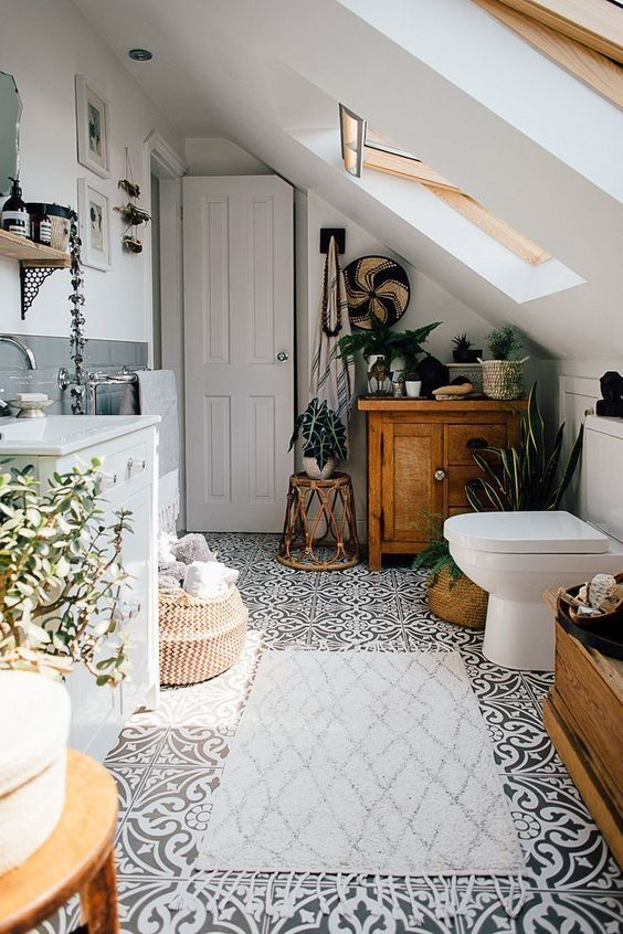 Boho Bathroom Ideas: Classic Boho Look