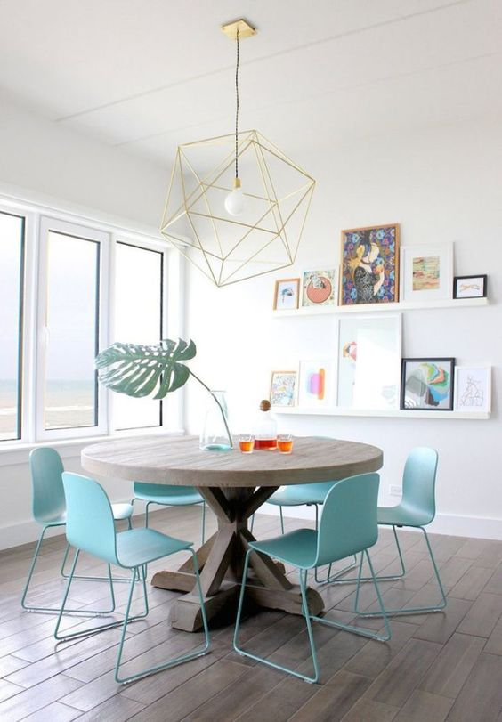 Casual Dining Room Ideas: Lovely Powder Blue