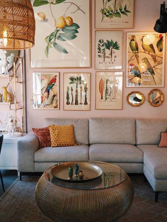 Living Room Inspiration Ideas: Chic Modern Bohemian