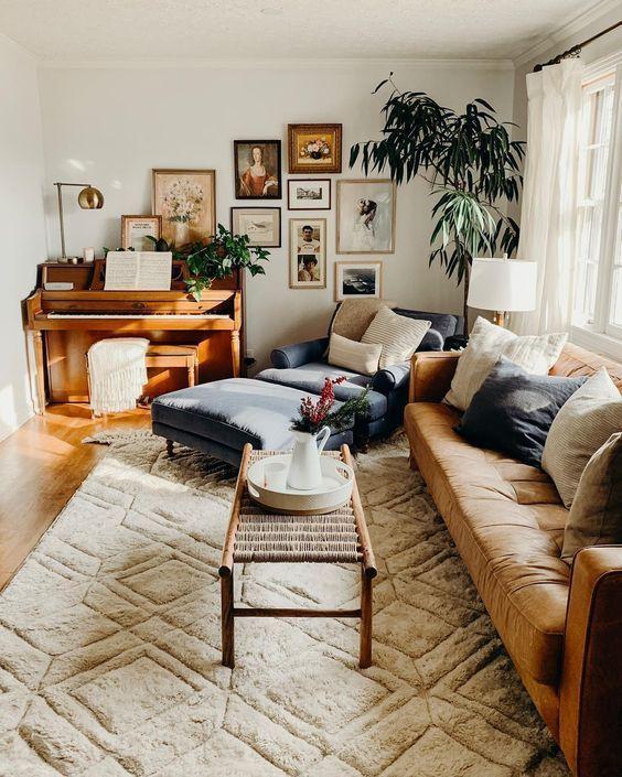 Living Room Inspiration Ideas: Cozy Earthy Color