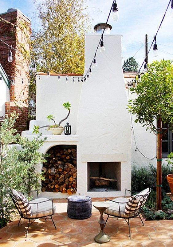 Patio Fireplace Ideas: Captivating Farmhouse Decor
