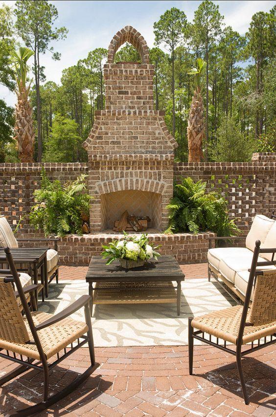 Patio Fireplace Ideas: Stunning Rustic Decor