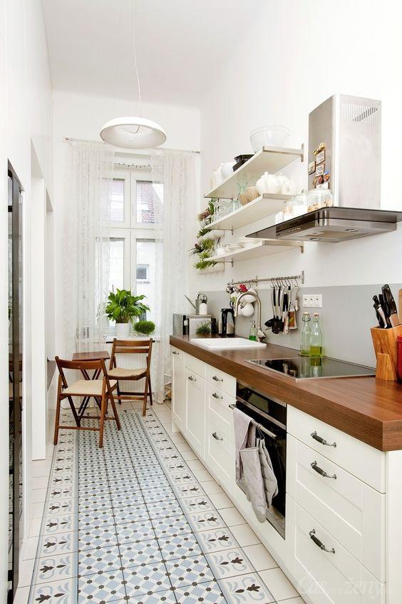 Small Kitchen Ideas: Striking Galley Kitchen