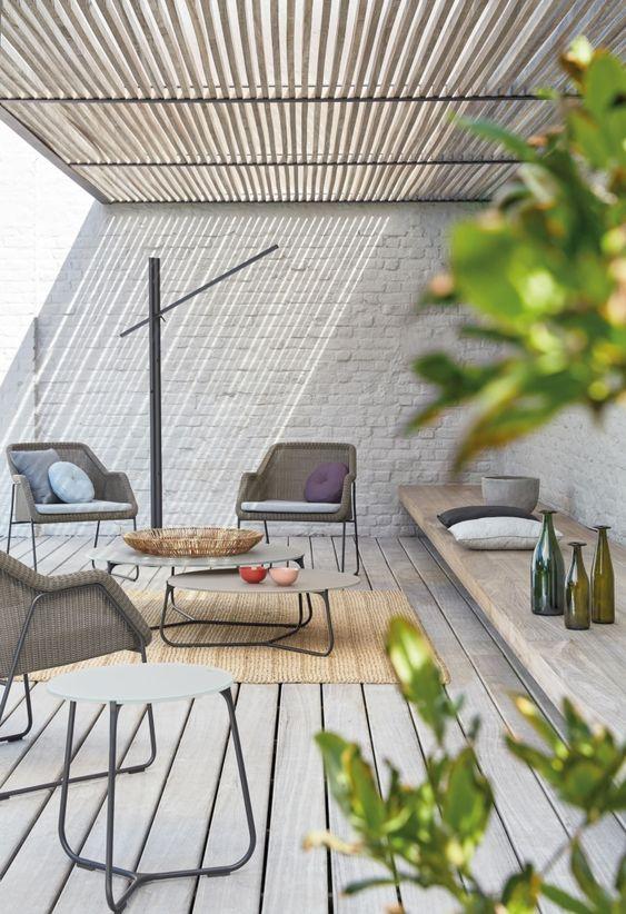 Small Patio Ideas: Earthy Rustic Concept