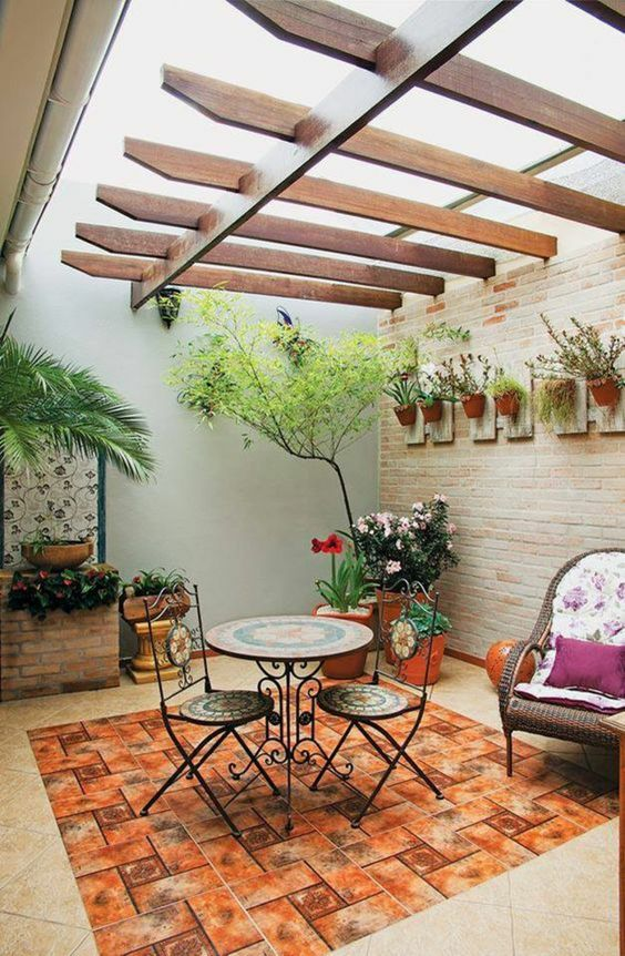 Small Patio Ideas: Fresh Mini Garden