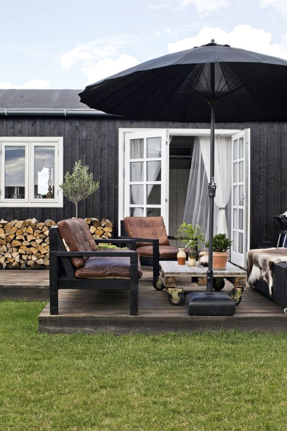 Backyard Deck Ideas: Minimalist Wooden Deck