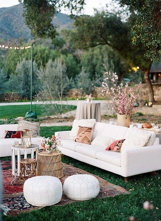 Backyard Sitting Area Ideas: Elegant Boho Nuance