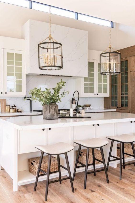 Farmhouse Kitchen Ideas: Elegant Farmhouse Kitchen