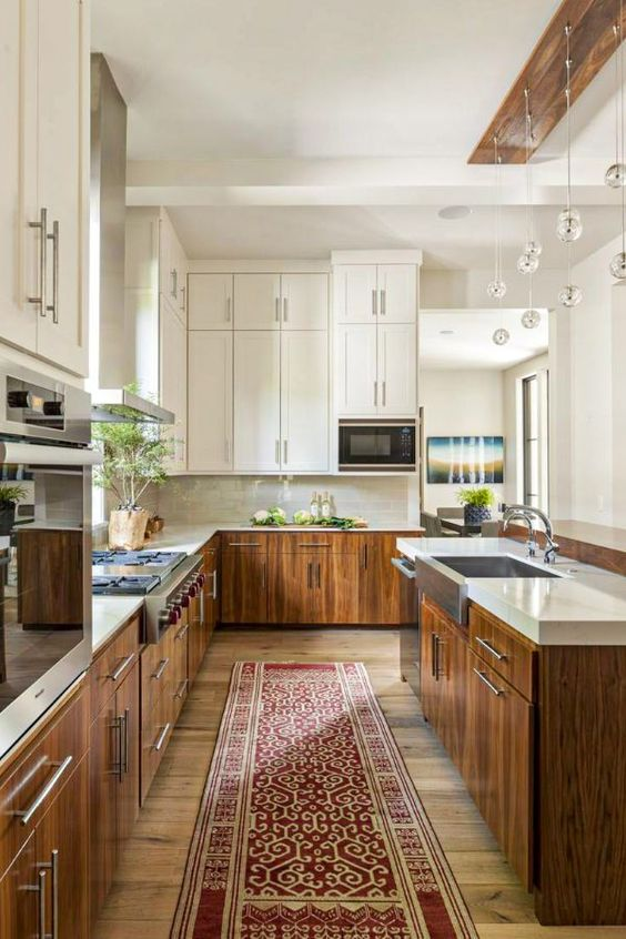 Farmhouse Kitchen Ideas: Simple Galley Kitchen