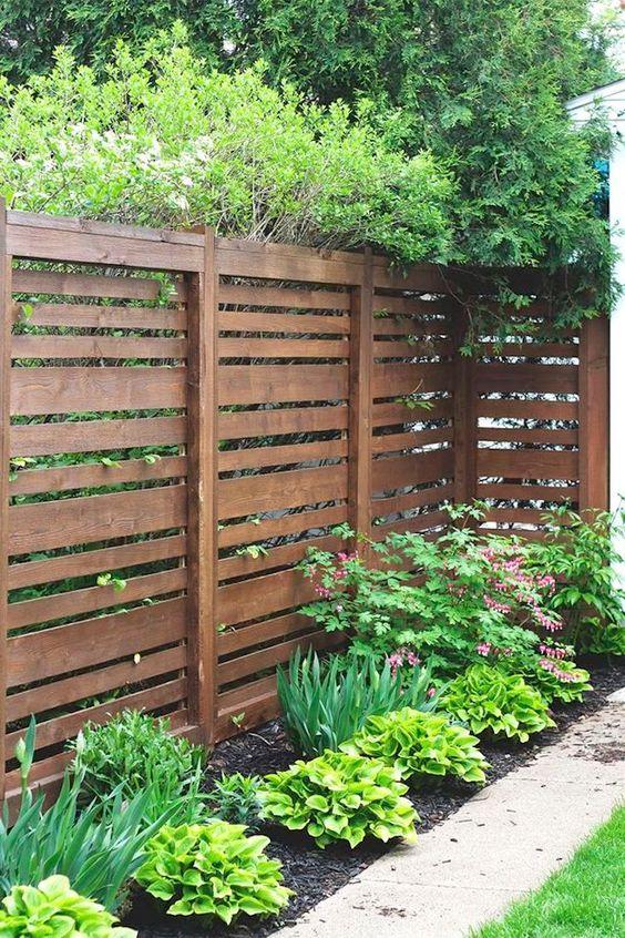Fence Inspiration Ideas: Rustic Horizontal Fence