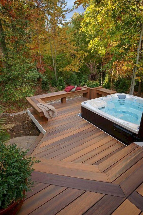 Hot Tub Decor: Captivating Outdoor Deck