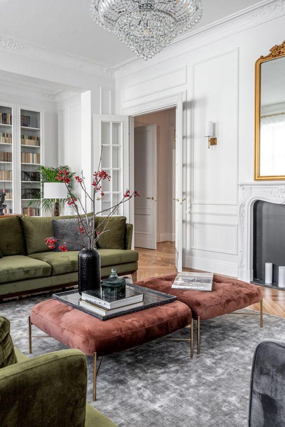 Living Room Design Ideas: Elegant Velvet Decor