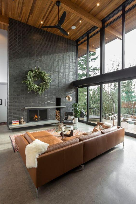 Living Room Design Ideas: Modern Rustic Design