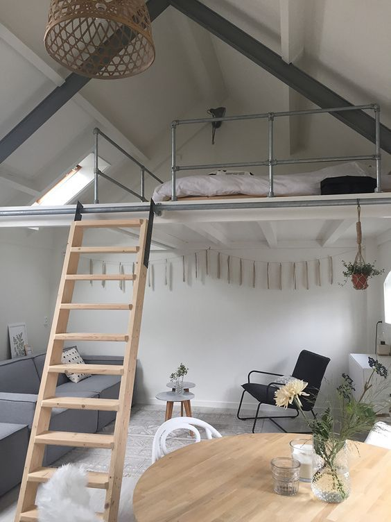 Loft Bedroom Ideas: Minimalist Earthy Decor