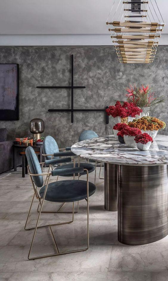 Luxury Dining Room Ideas: Classy Gray Shade