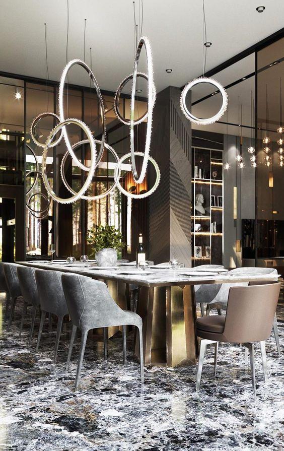 Luxury Dining Room Ideas: Stunning Unique Lighting