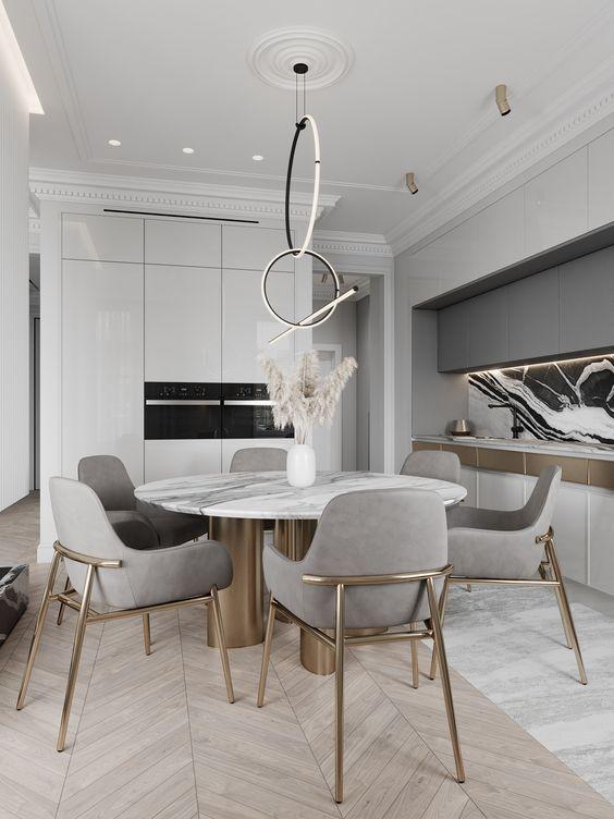 Luxury Dining Room Ideas: Stunning Light Gray