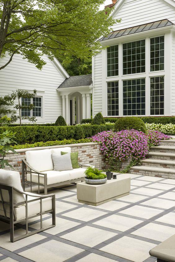 Patio Design Ideas: Modern Concrete Tiles