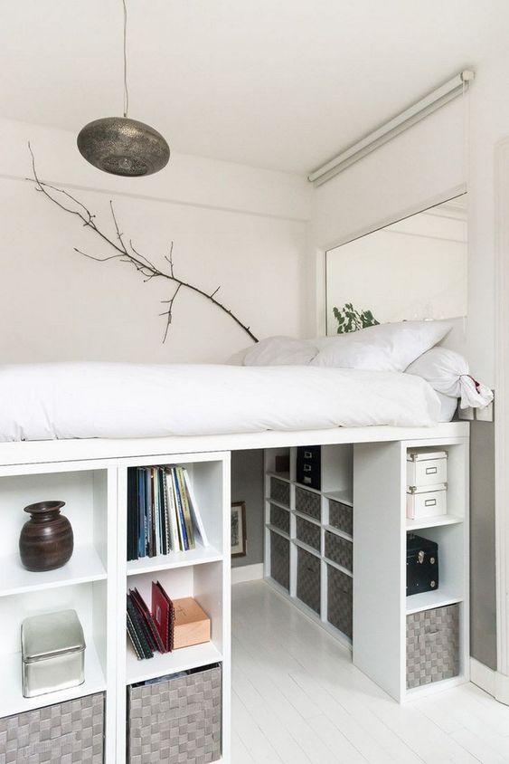 Small Bedroom Ideas: Minimalist Loft Bedroom