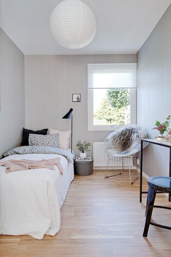 Small Bedroom Ideas: Bright Scandinavian Look