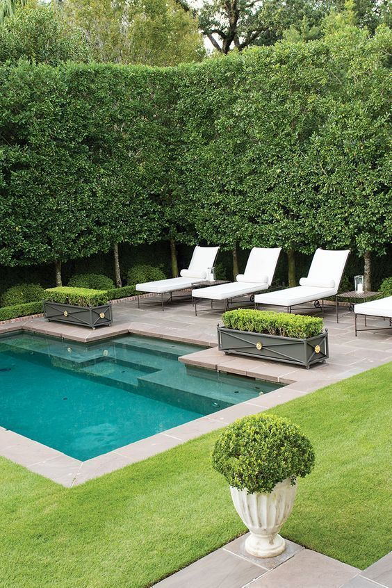 Swimming Pool Landscaping Ideas: Cozy Pool Lounge