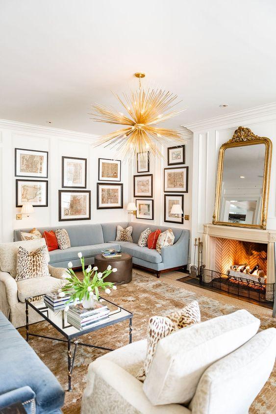 Traditional Living Room Ideas: Stunning Pastel Shade