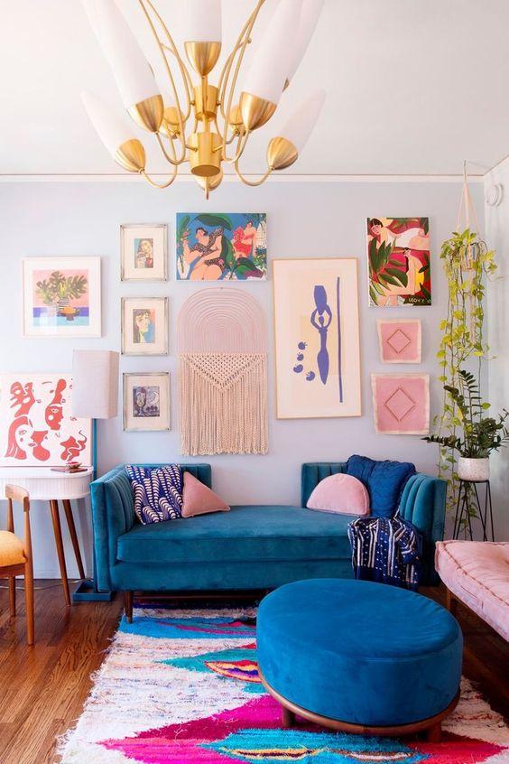 Traditional Living Room Ideas: Bright Modern Boho