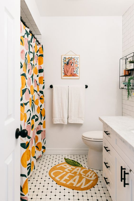 Apartment Bathroom Ideas: Fresh Pop Color