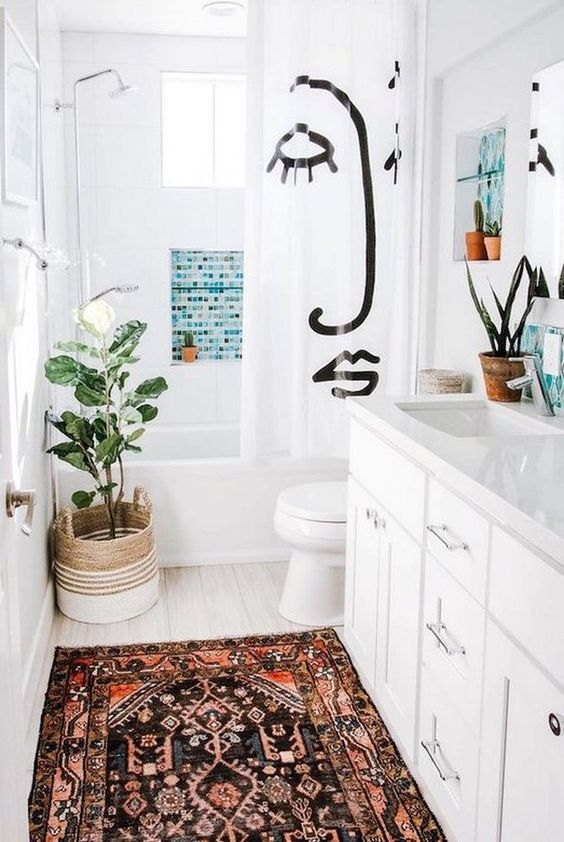 Apartment Bathroom Ideas: Stylish Boho Decor