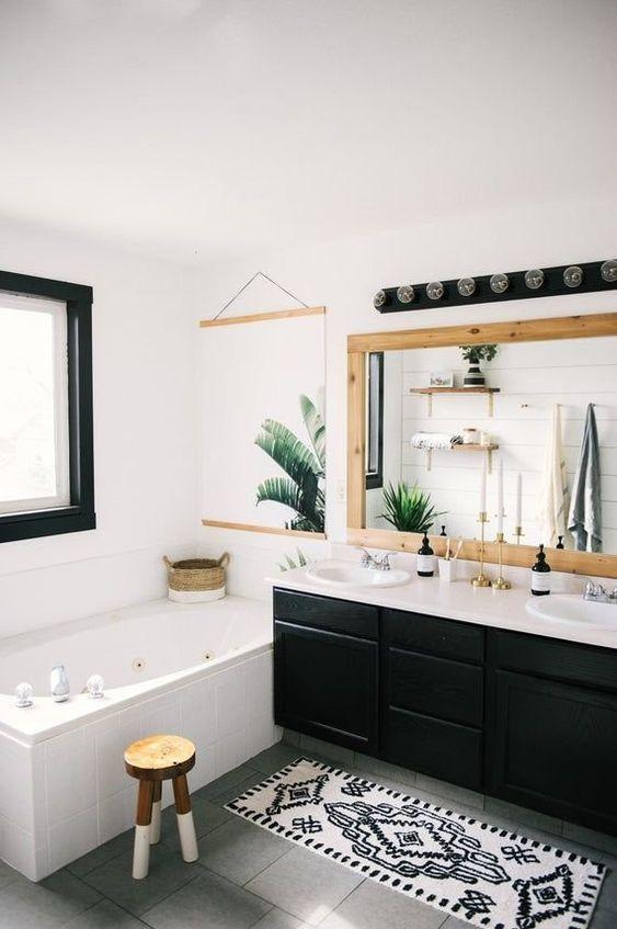 Bathroom Design Ideas: Simple Monochromatic Look