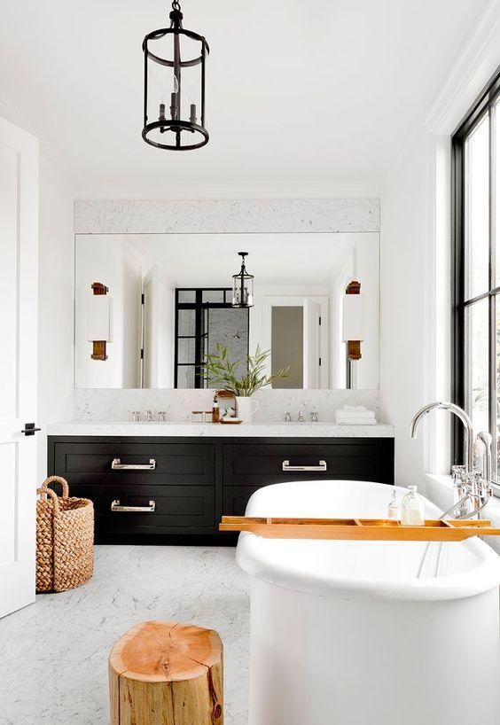 Bathroom Design Ideas: Sleek Modern Farmhouse