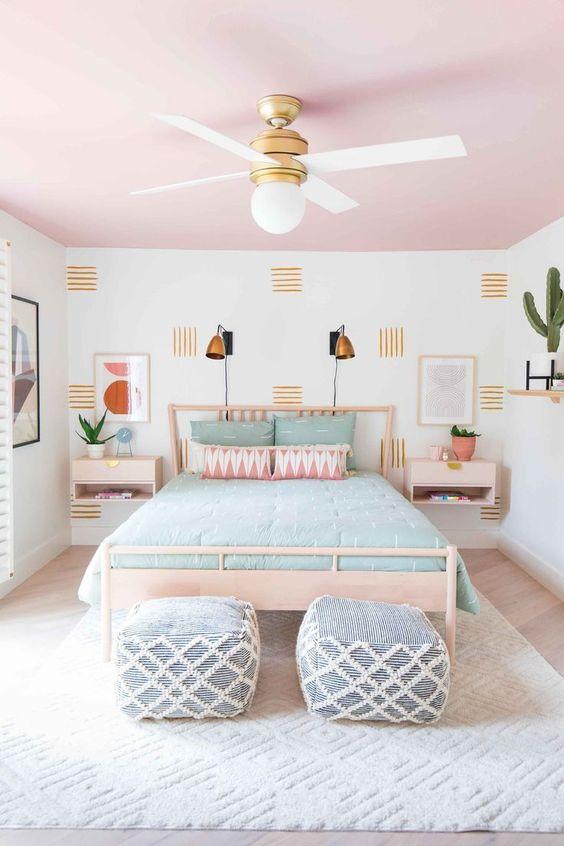 Bedroom Decor Ideas: Minimalist Fun Pattern