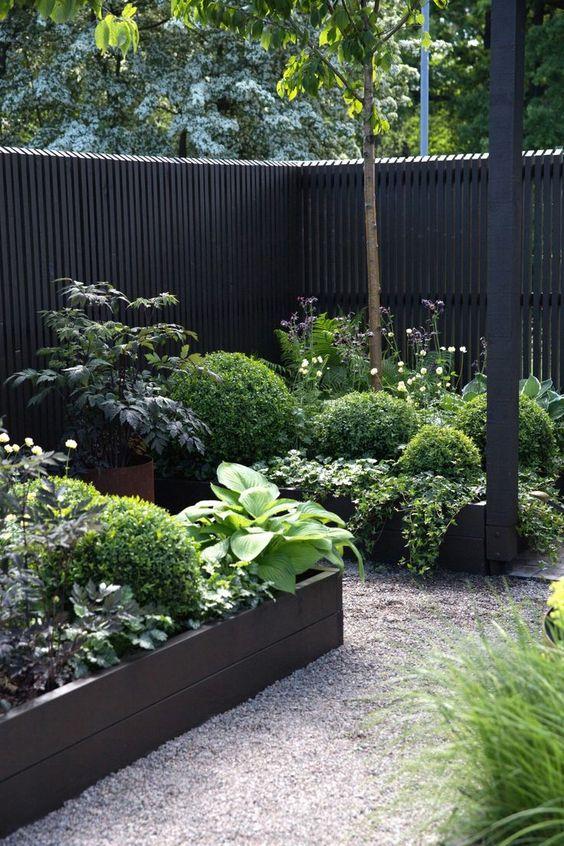 Black Fence Ideas: Black Garden Fence