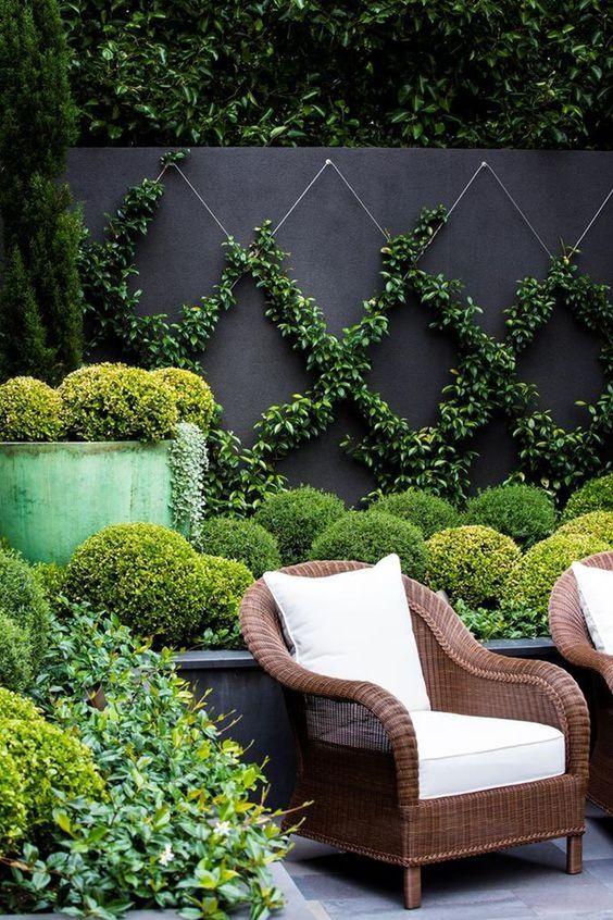 Black Fence Ideas: Elegant Natural Landscaping
