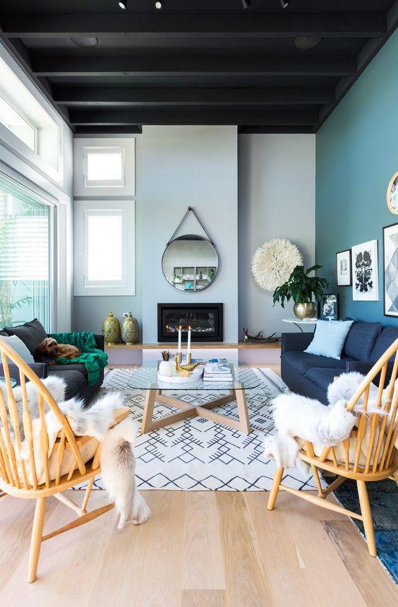 Blue Living Room Ideas: Beautiful Simple Look