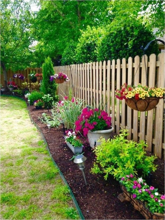 Fence Landscaping Ideas: Classic Rustic Vibe