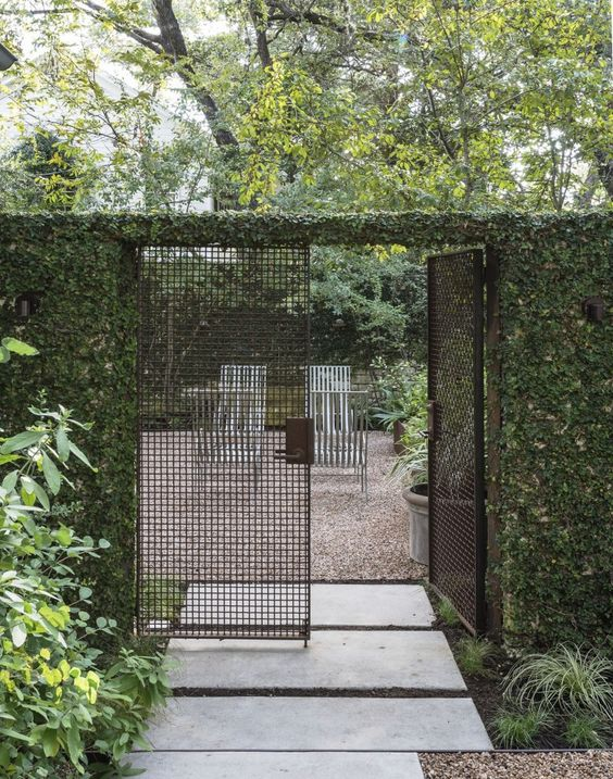 Fence Landscaping Ideas: Modern Fence Gate