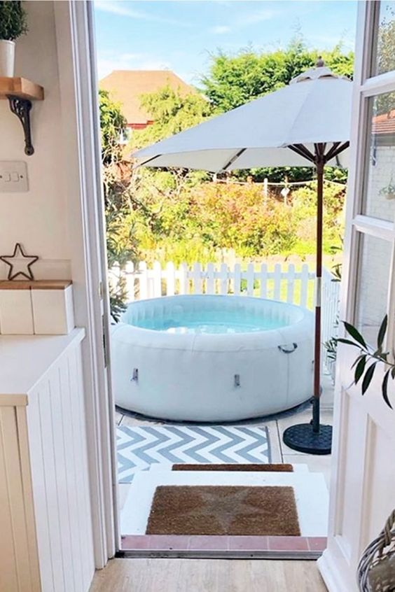 Inflatable Hot Tub: Cozy and Fresh