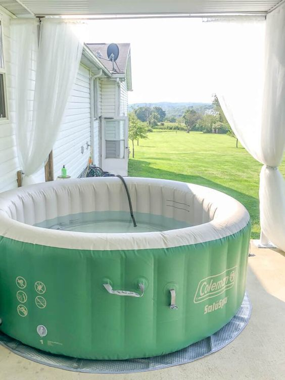 Inflatable Hot Tub: Fresh Outdoor View