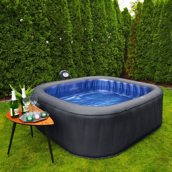Inflatable Hot Tub: Striking Outdoor View